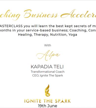 Coaching Accelerator-Ignite the Spark